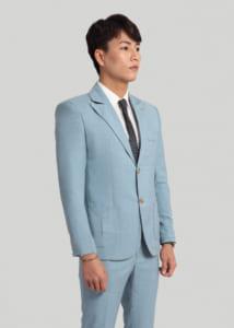 vest suit nam cao cấp 2 cúc