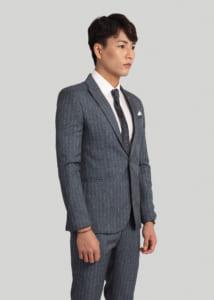 vest suit nam cao cấp kẻ sọc